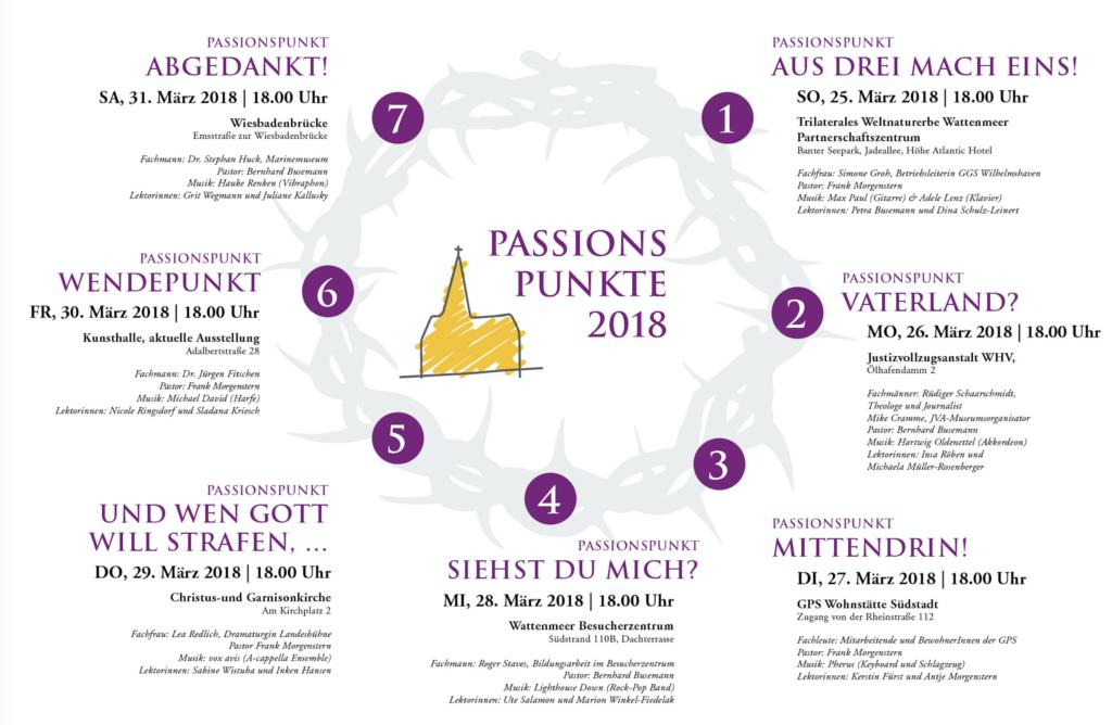 Flyer zu den Passionspunkten 2018 herunterladen.